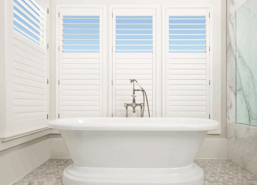 plantation shutters bathroom solutions design Hunter Douglas St Paul 55118