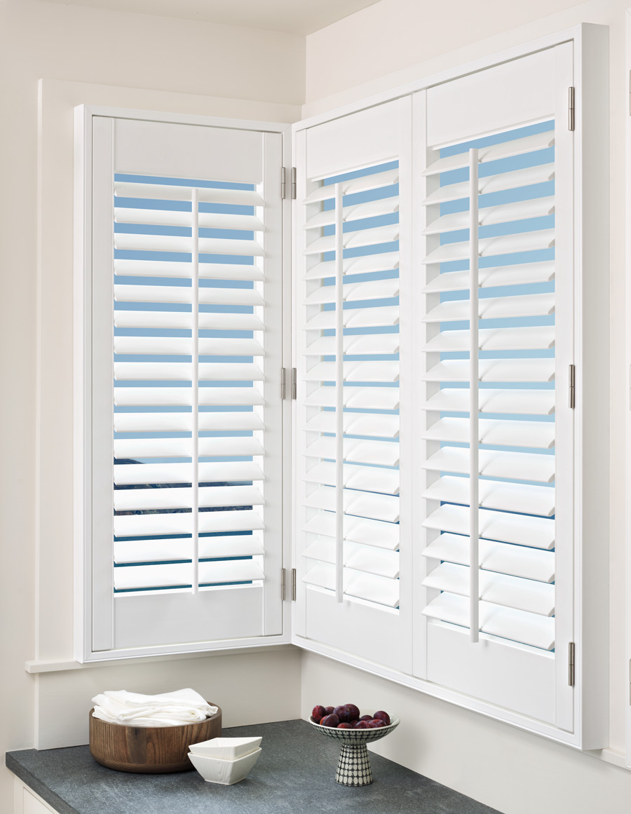best plantation shutters corner fit from tilt pal beach Hunter Douglas St Paul 55331