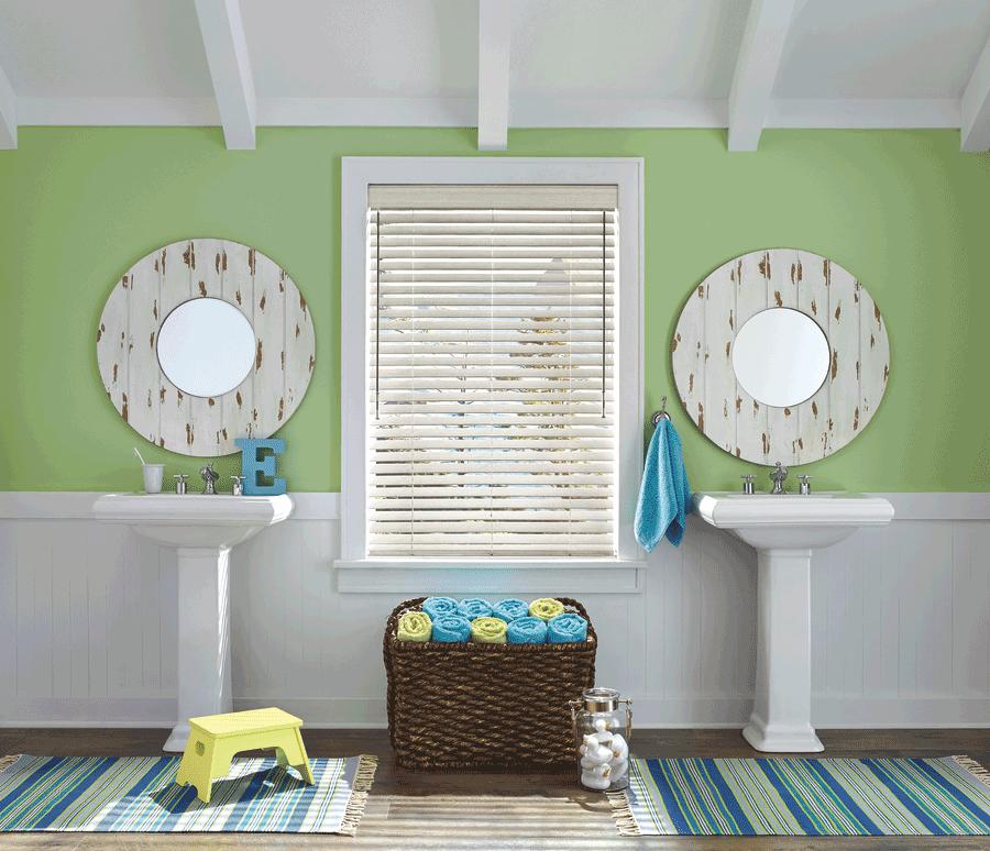 faux wood blinds bathroom solutions design Hunter Douglas St Paul 55113
