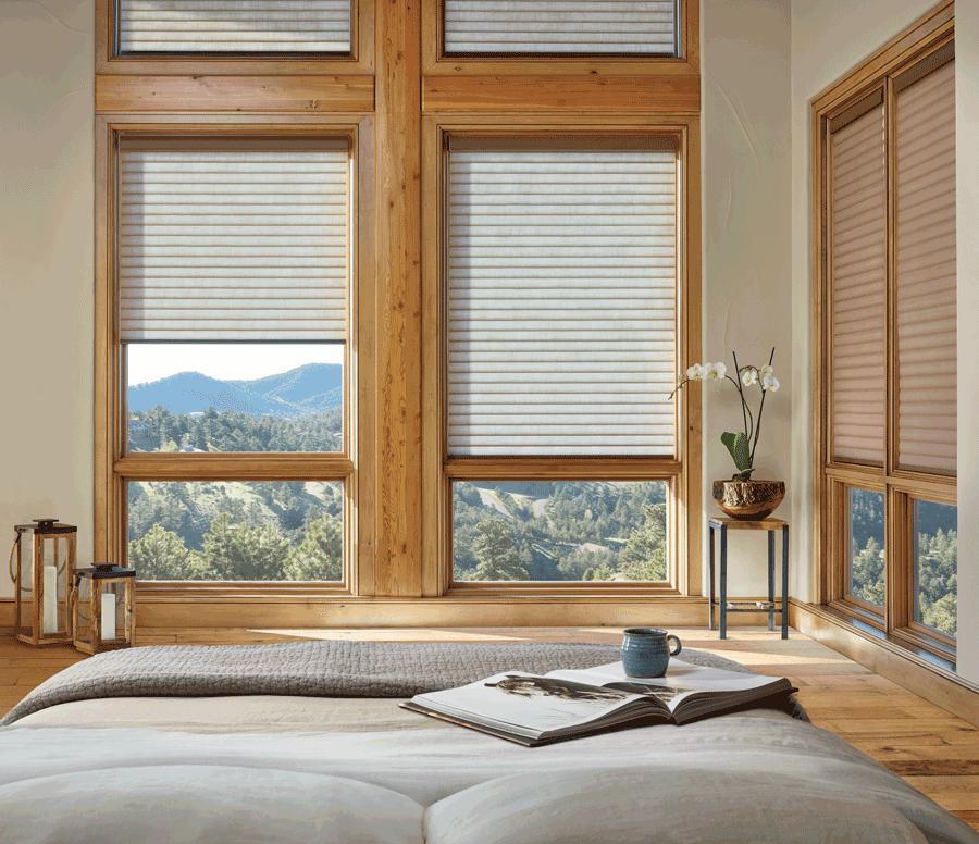bedroom duette honeycomb shades best insulating window treatments Hunter Douglas St Paul 55113