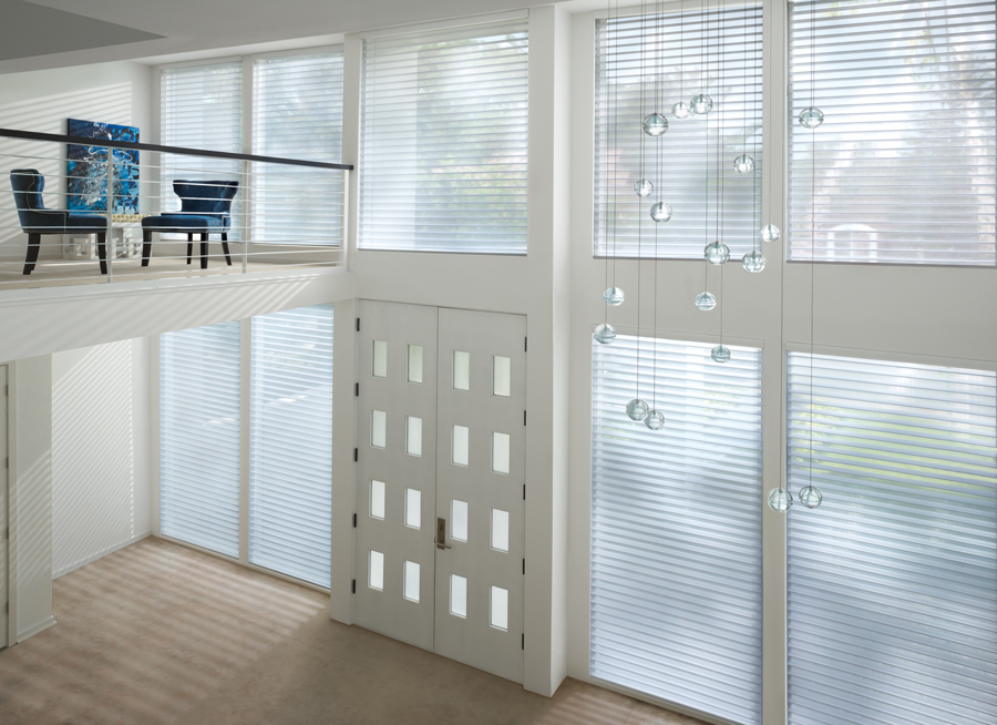 white entryway pirouette shades Hunter Douglas ST Paul 55331