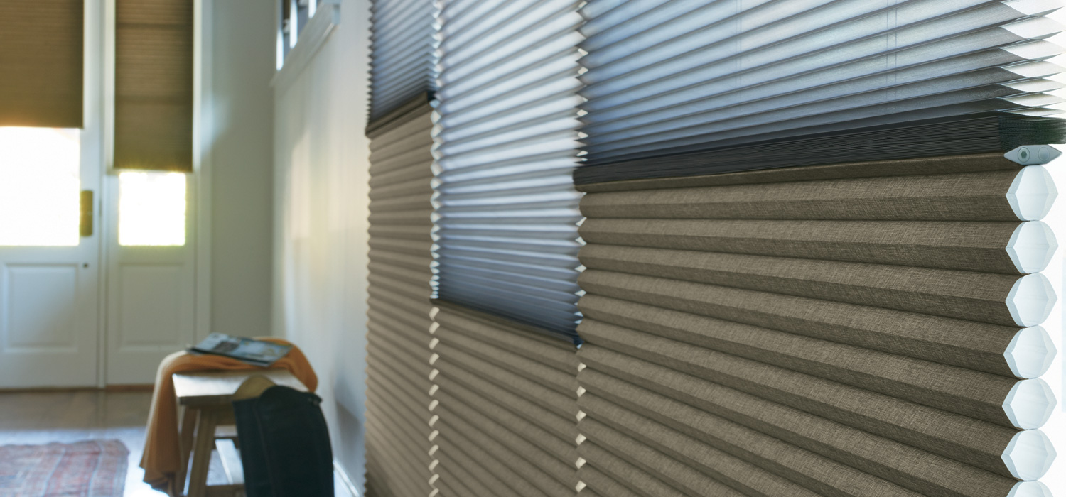 Hunter Douglas duette shades with dual shade system for top down bottom up shades Burnsville 55337