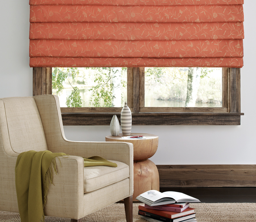 waterfall roman shades Hunter Douglas design studio custom roman shades Burnsville 55337