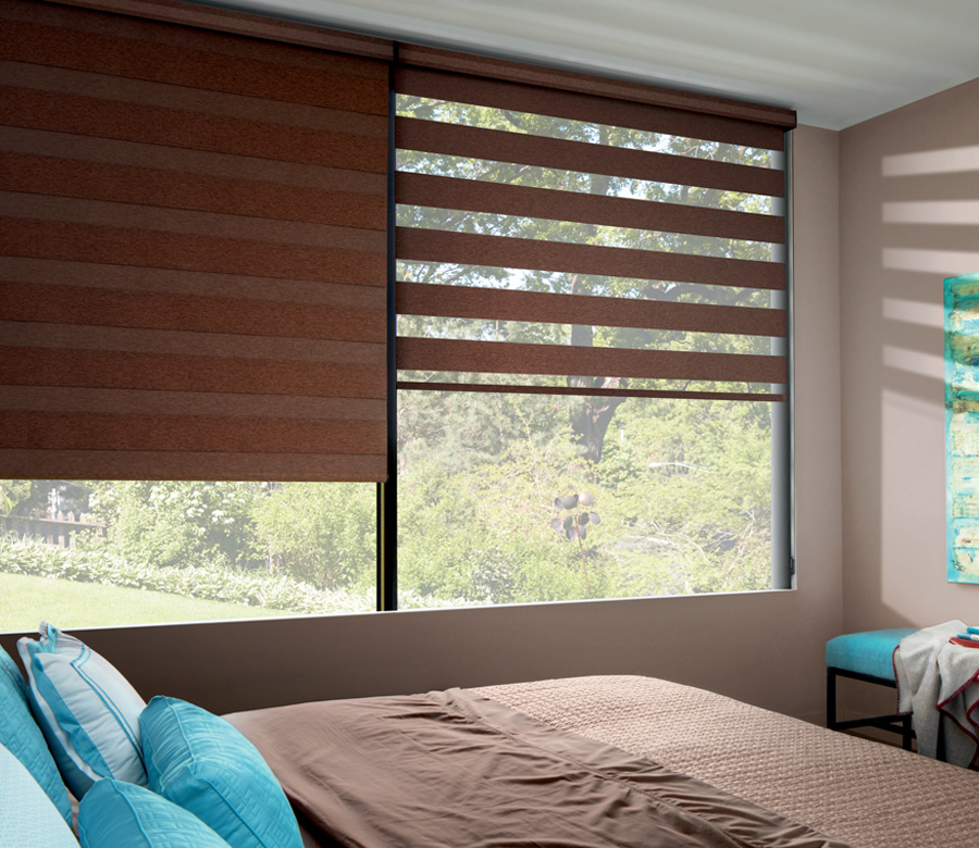 Designer Banded Window Roller Shades Hunter Douglas St
