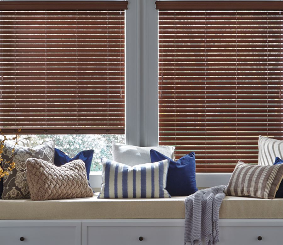 Hunter Douglas faux wood blinds St paul mn