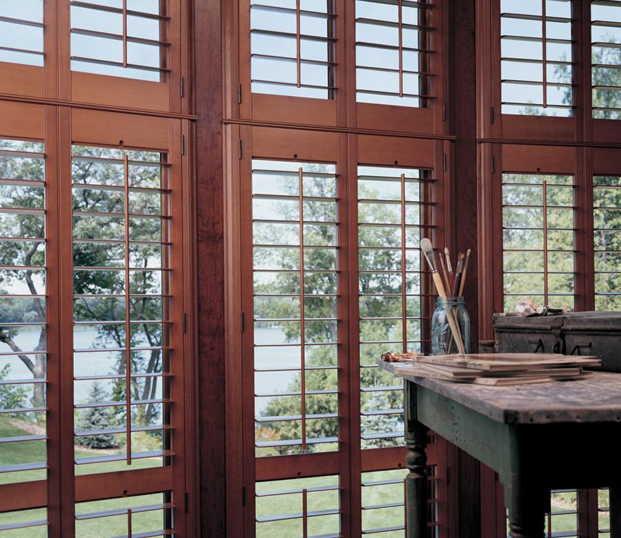 view through plantation shutters st paul mn