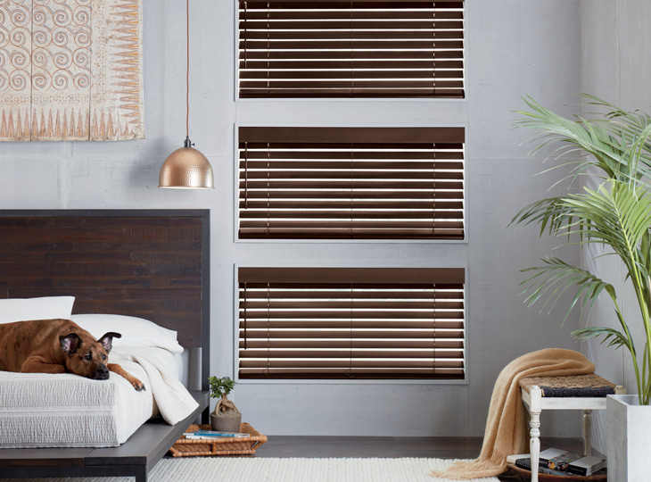 real wood Hunter Douglas blinds Maple Grove MN