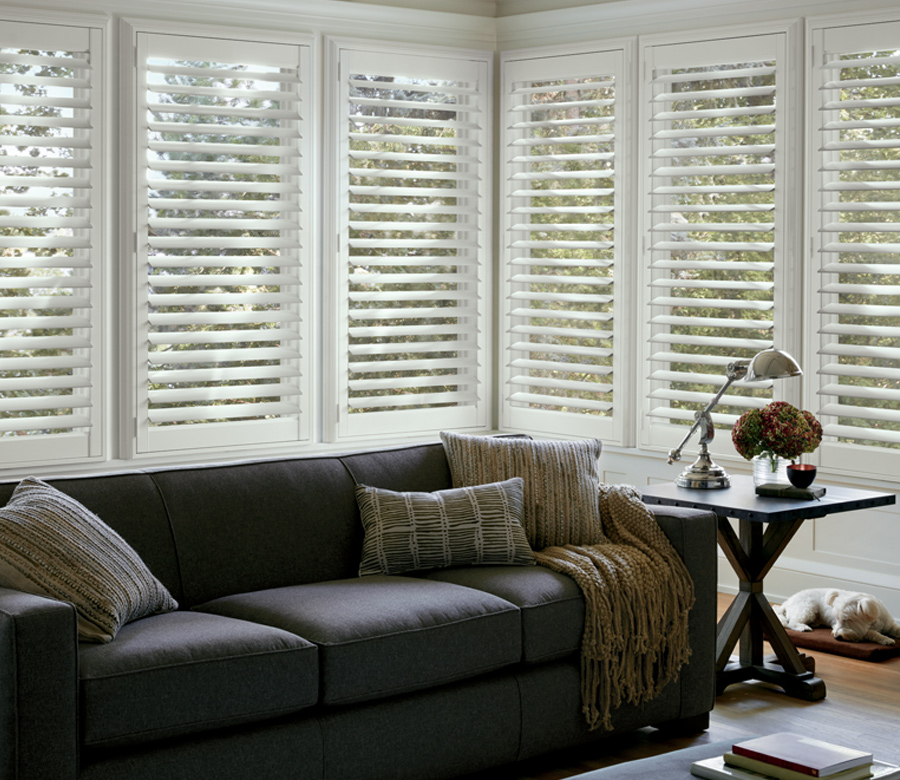 living room interior window shutters St paul Mn