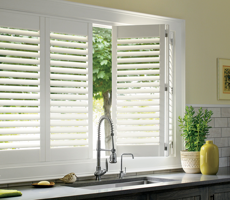 kitchen window interior window shutters St paul MN