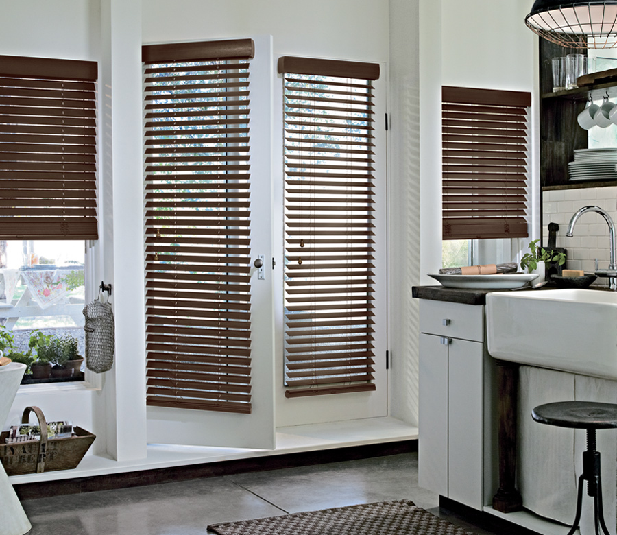 wood blinds french door window treatments St paul Mn