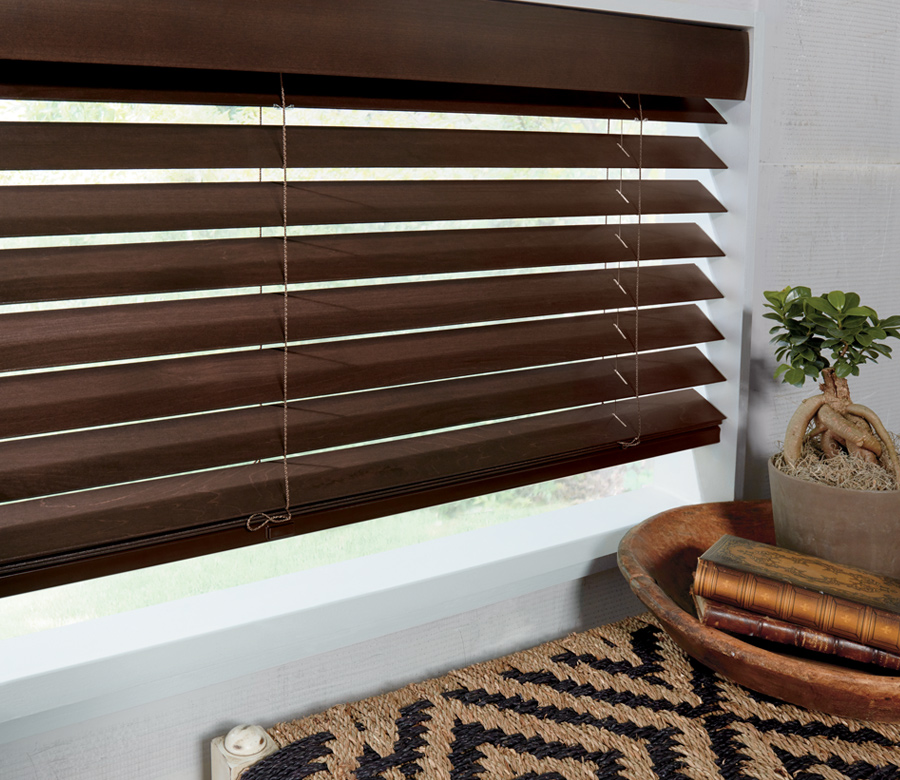 dark parkland wood blinds Minneapolis MN