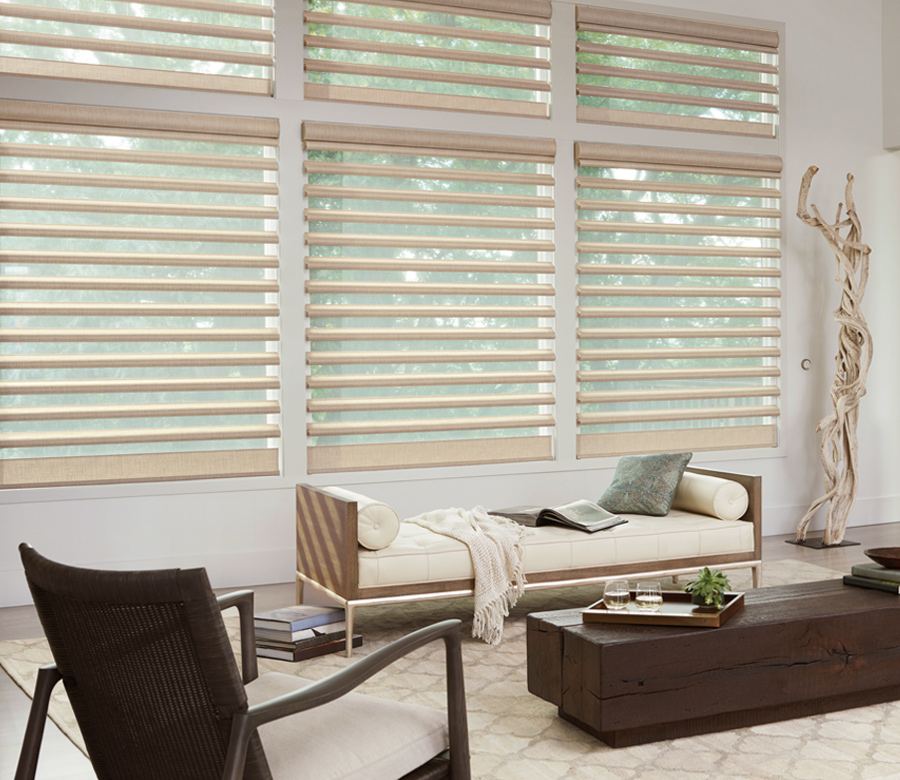 gold pirouette window shades maple grove mn