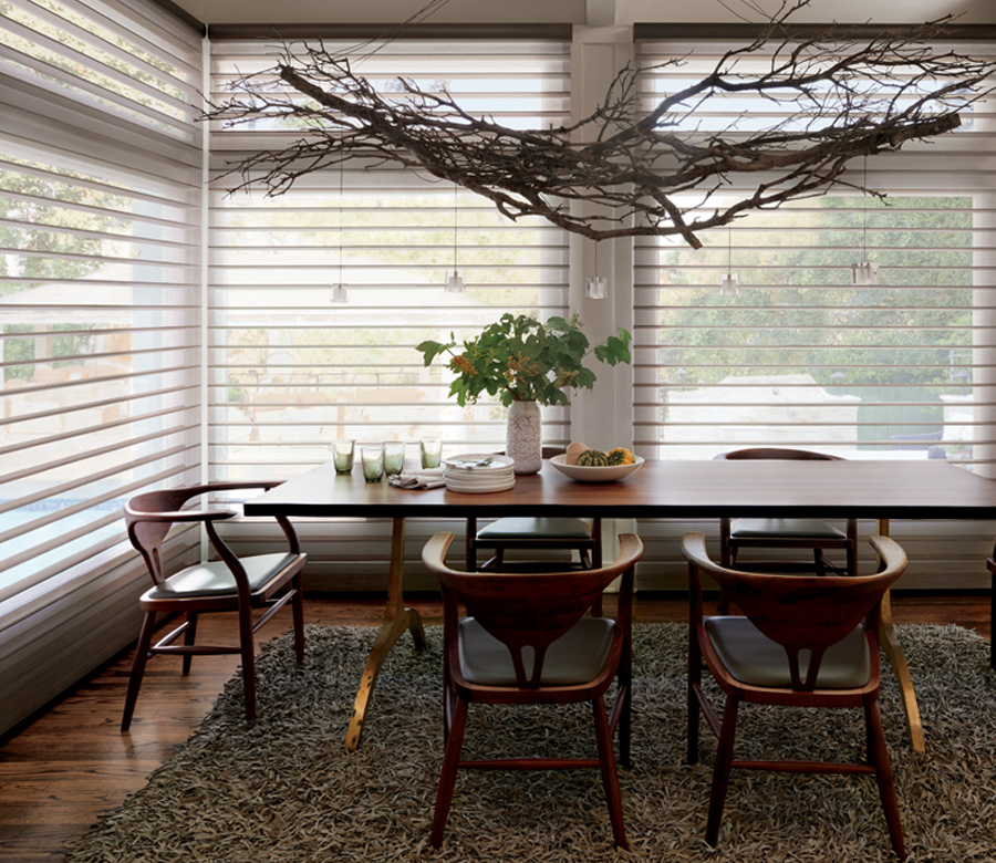 dining room hunter douglas silhouette window shades Minneapolis mn