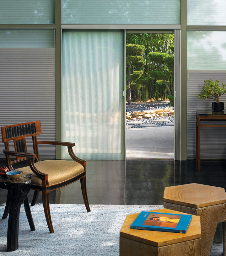 duette shades Hunter Douglas window treatments for sliding glass doors Maple Grove MN