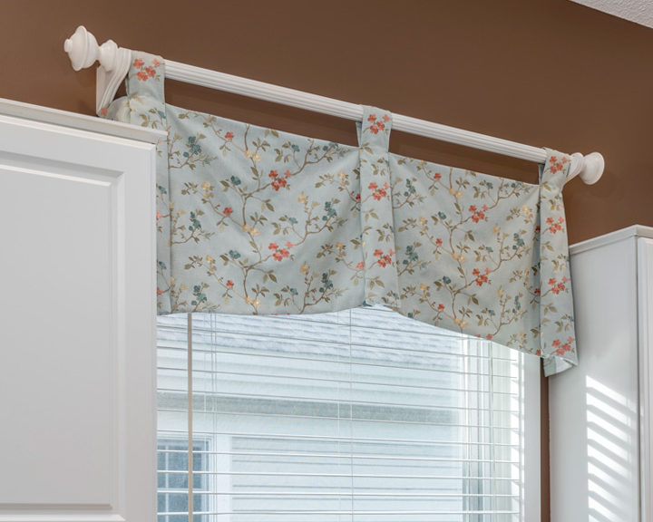 floral fabric Custom Valance St Paul MN