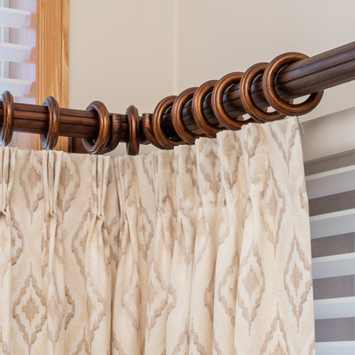pinch pleat curtains with drapery hardware St Paul MN