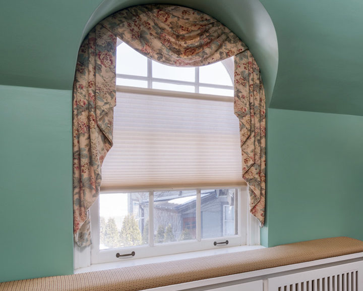 Arched window treatments valance Minneapolis MN