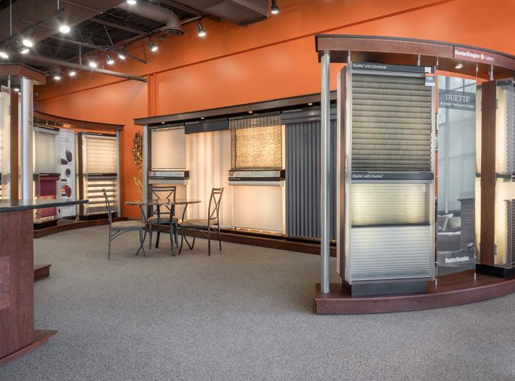 Hunter Douglas display of window treatments Burnsville MN