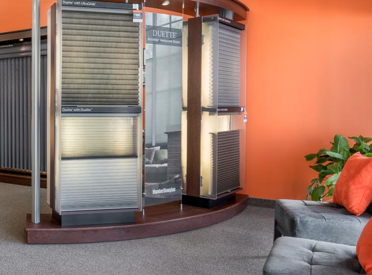 display of window treatments Burnsville MN