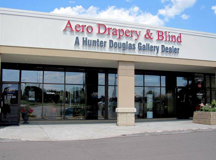 aero drapery & blind hunter douglas showroom Burnsville MN