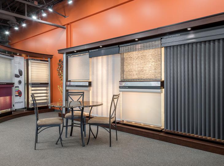 aero drapery & blind showroom for window treatments near Burnsville MN