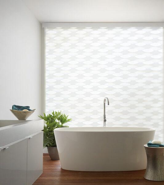 Hunter Douglas automated blinds for bathroom Maple Grove MN