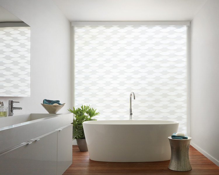 Hunter Douglas automated blinds for bathroom Maple Grove MN