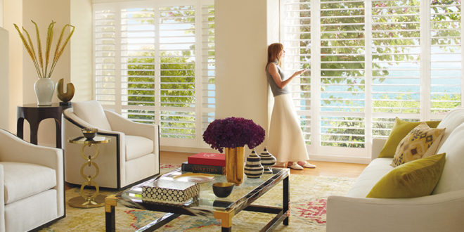 motorized shutters palm beach plantation shutters Hunter Douglas St Paul 55331