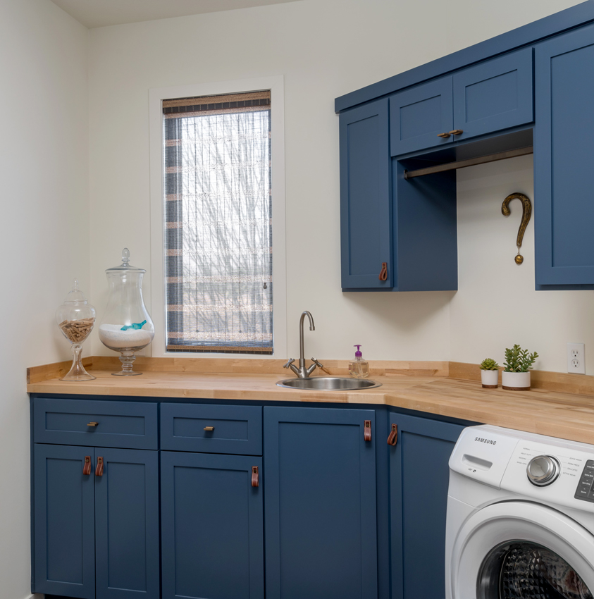 laundry room design Hunter Douglas provenance woven wood shades Maple Grove 55369