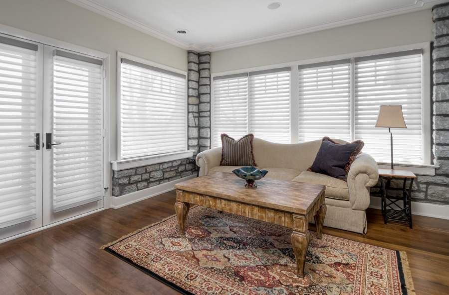 Hunter Douglas silhouette shades for french doors Maple Grove 55369