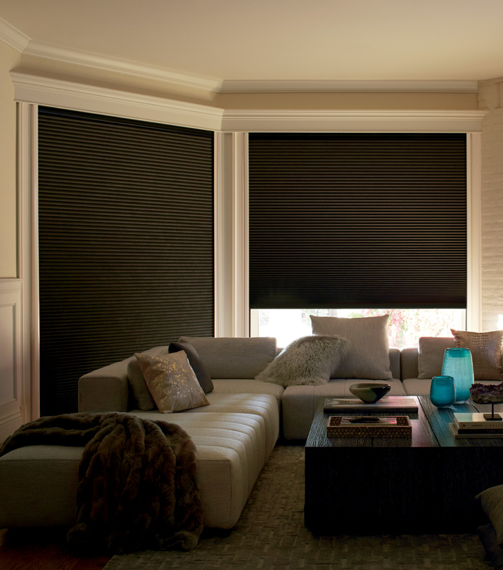 Hunter Douglas duette lightlock best room darkening blinds Minneapolis St Paul MN