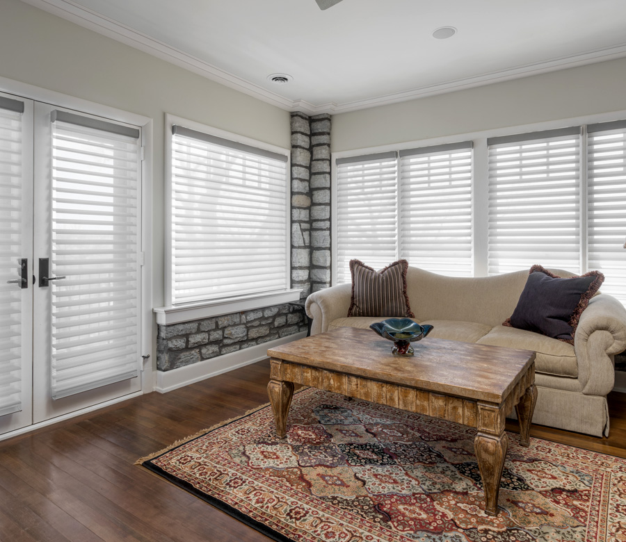 Hunter Douglas silhouette shades on french doors Maple Grove 55369
