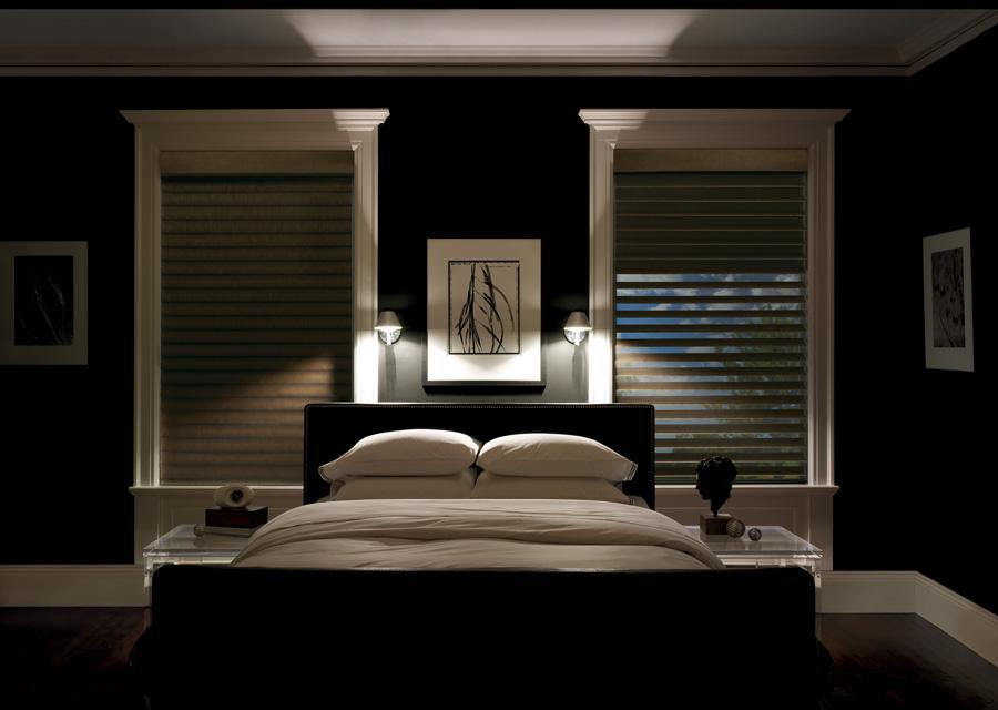 bedroom blackout sheer shades silhouette hunter douglas st paul 55113