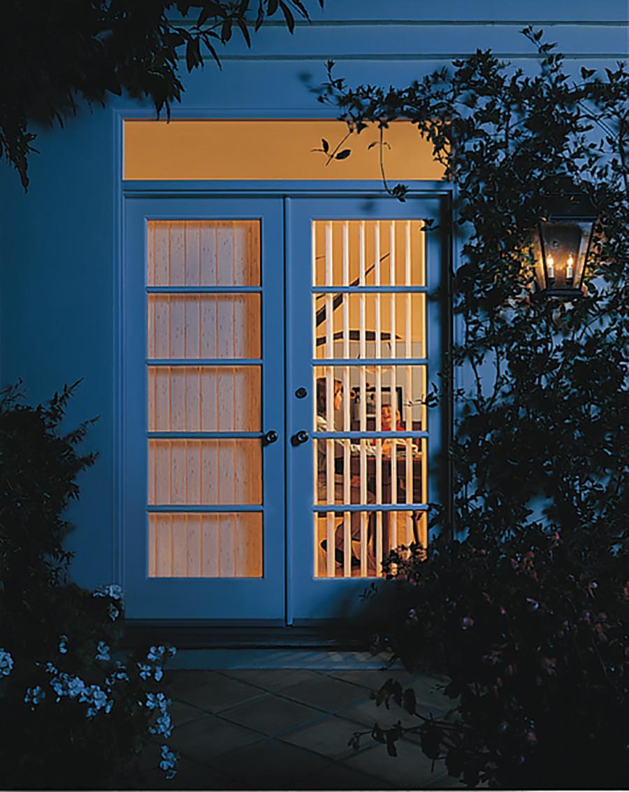 french door vertical blinds Hunter Douglas St Paul 551133