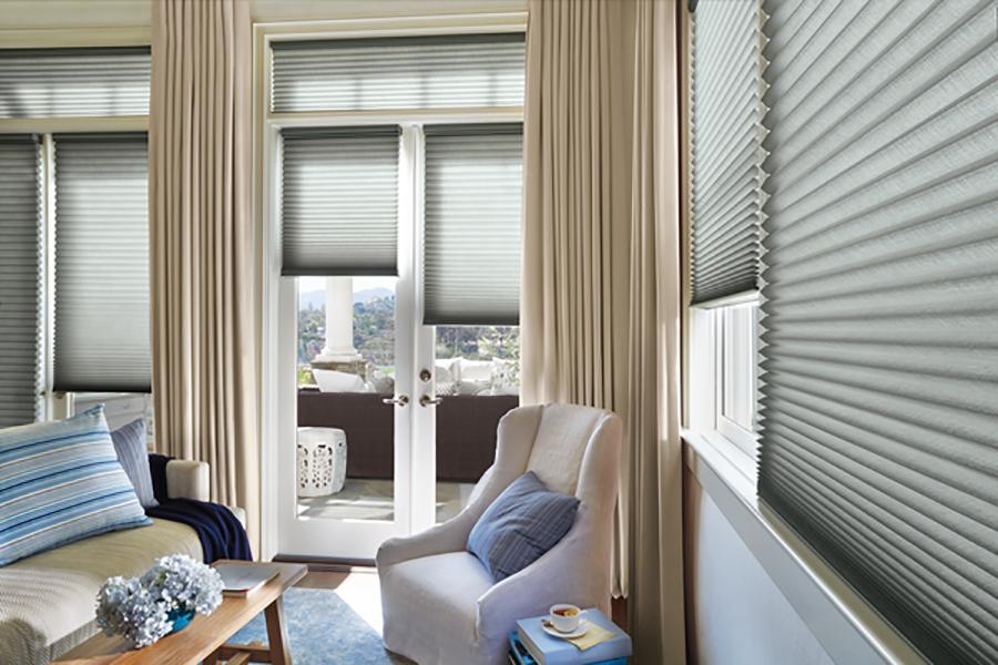 duette cellular french door window treatments Minneapolis MN