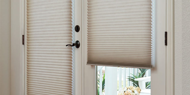 French door shades duette honeycomb shades Hunter Douglas St Paul 55113