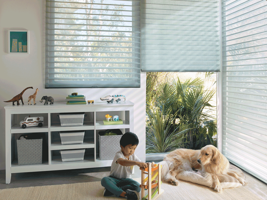 silhouette child-safes shades and blinds for dog owners Hunter Douglas St Paul 55113