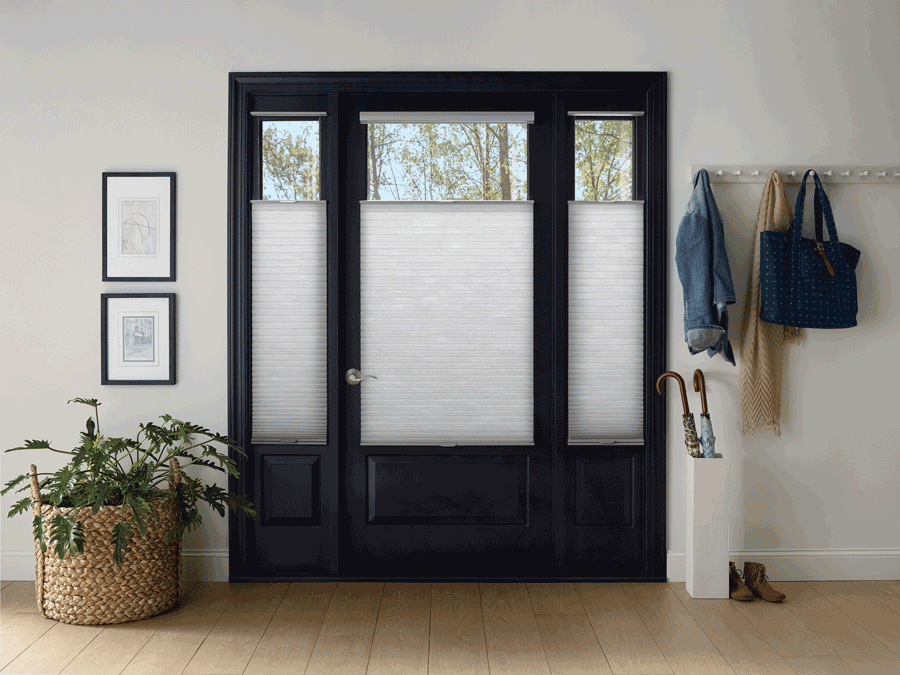 entry way top down shade duette honeycomb shades Hunter Douglas St Paul 55113