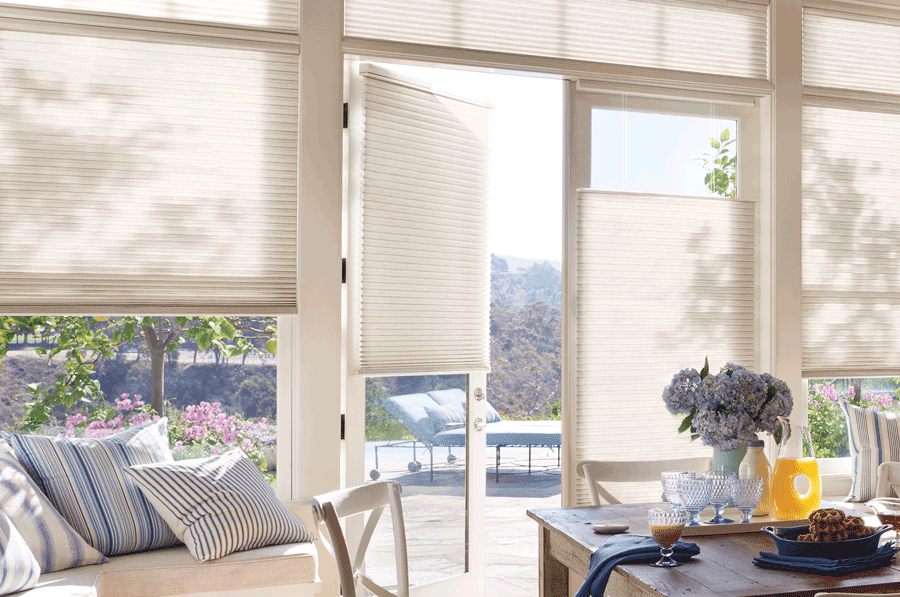 french door duette honeycomb shades summer ready home Hunter Douglas St Paul 55113