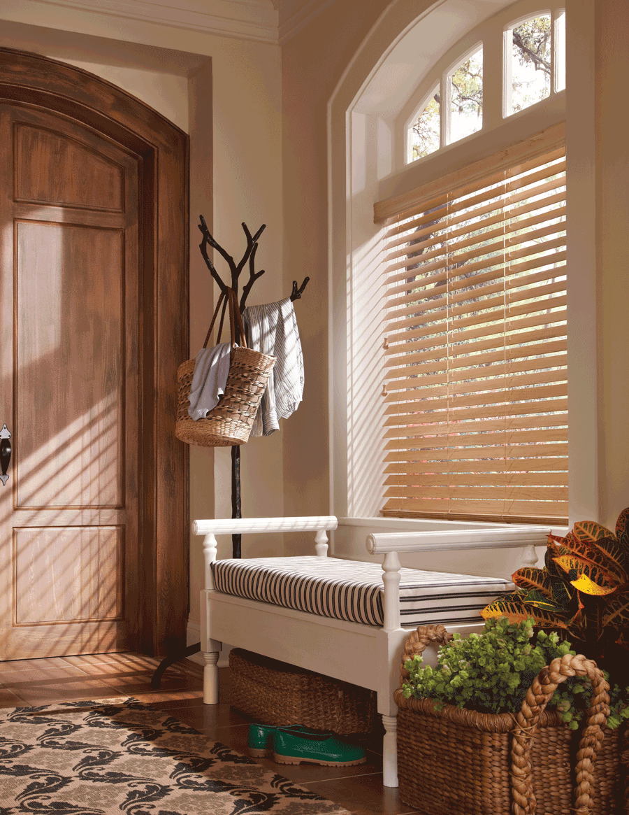 entryway top down arched window treatments
