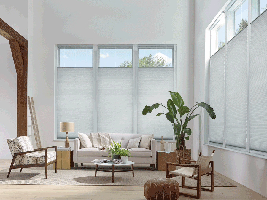favorite feature living room duette honeycomb shades Hunter Douglas Burnsville 55337