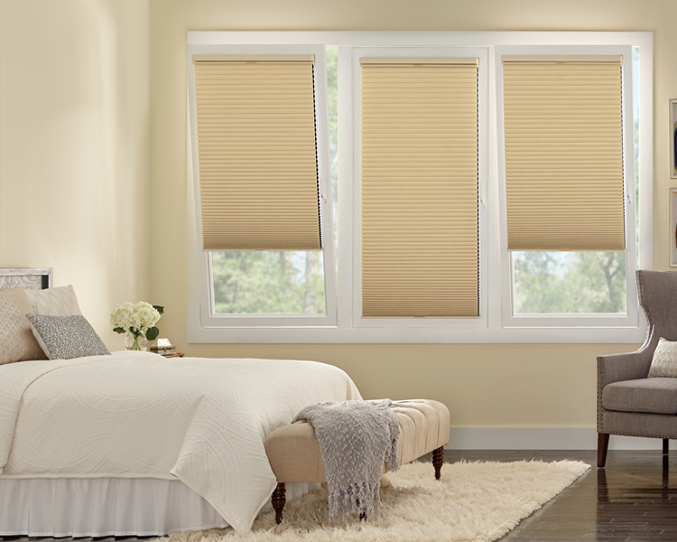 master bedroom tilt turn windows with duette honeycomb shades Track glide St Paul 55113
