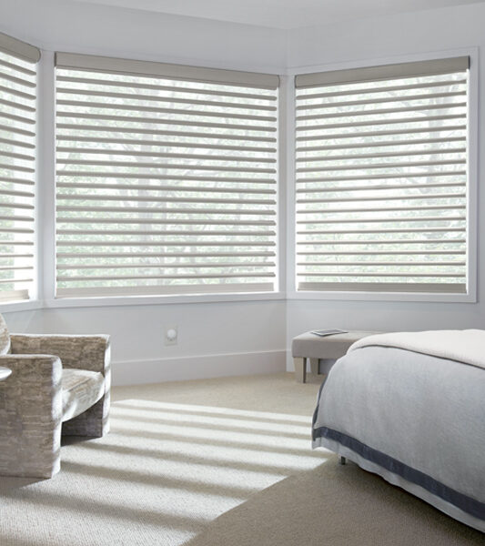 bay window Pirouette window shades in Burnsville 55337