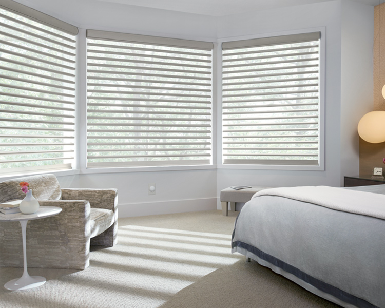 bay window Pirouette window shades in Burnsville 55337