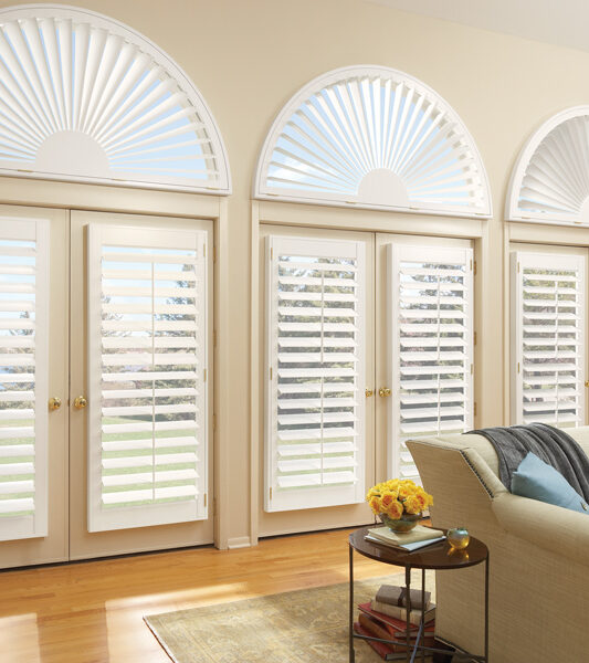 Plantation shutters on arched windows Maple Grove 55369