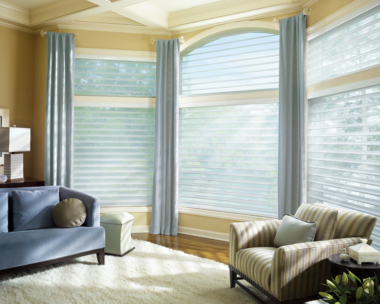 Hunter Douglas silhouette shades for arched windows Burnsville 55337