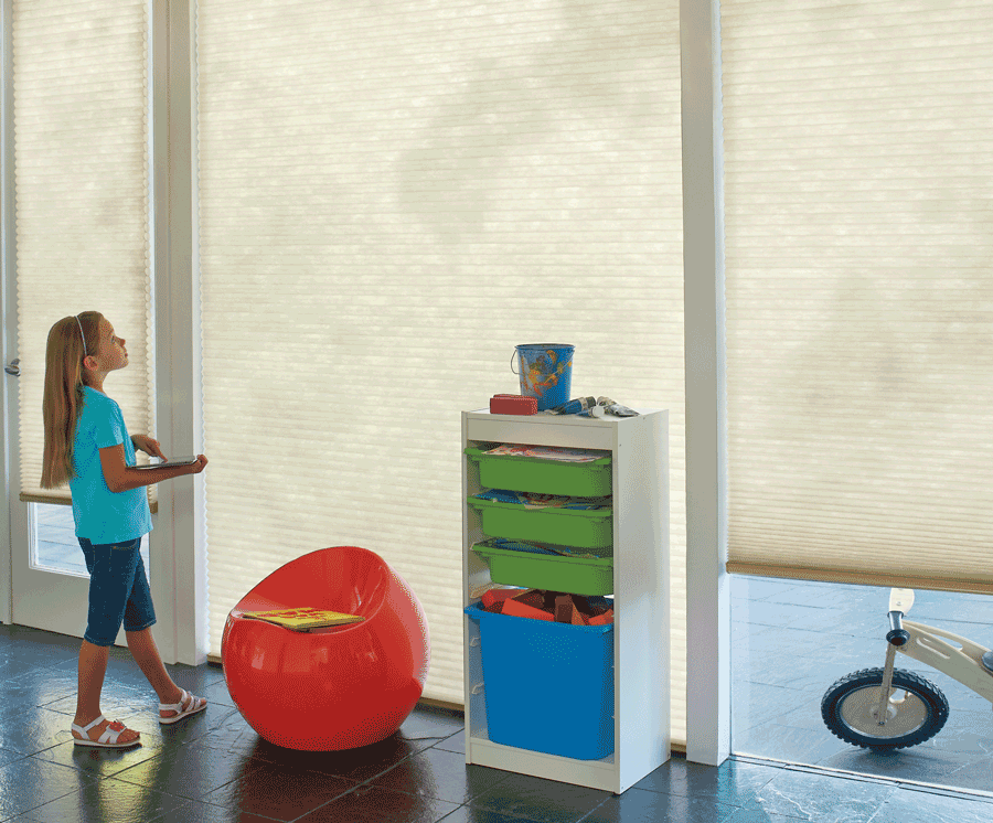 motorized blinds cordless for child safety Maple Grove MN