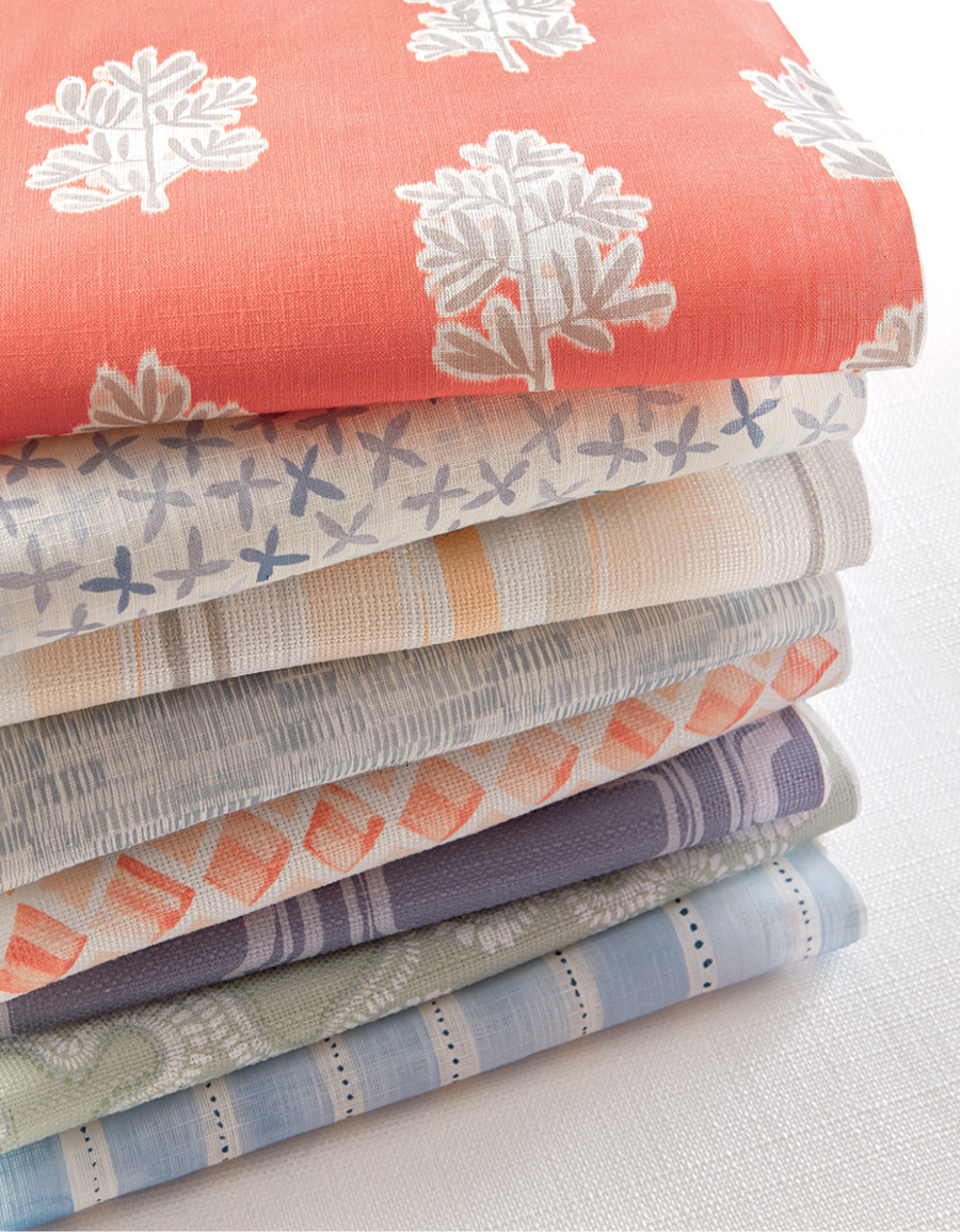 stacked fabrics dedicated for the Hunter Douglas design studio Maple Grove MN