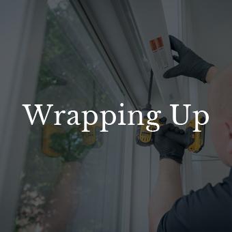 finishing up the window treatment process St Paul MN