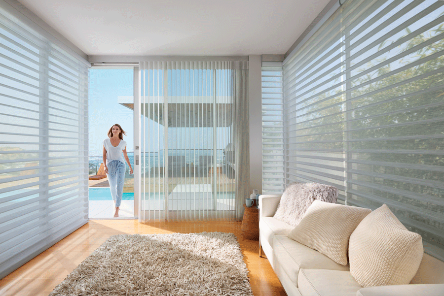 Letting the outdoors in with these window treatments.
